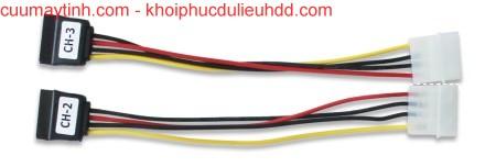 PATA-SATA (10 cm) adapter điện
