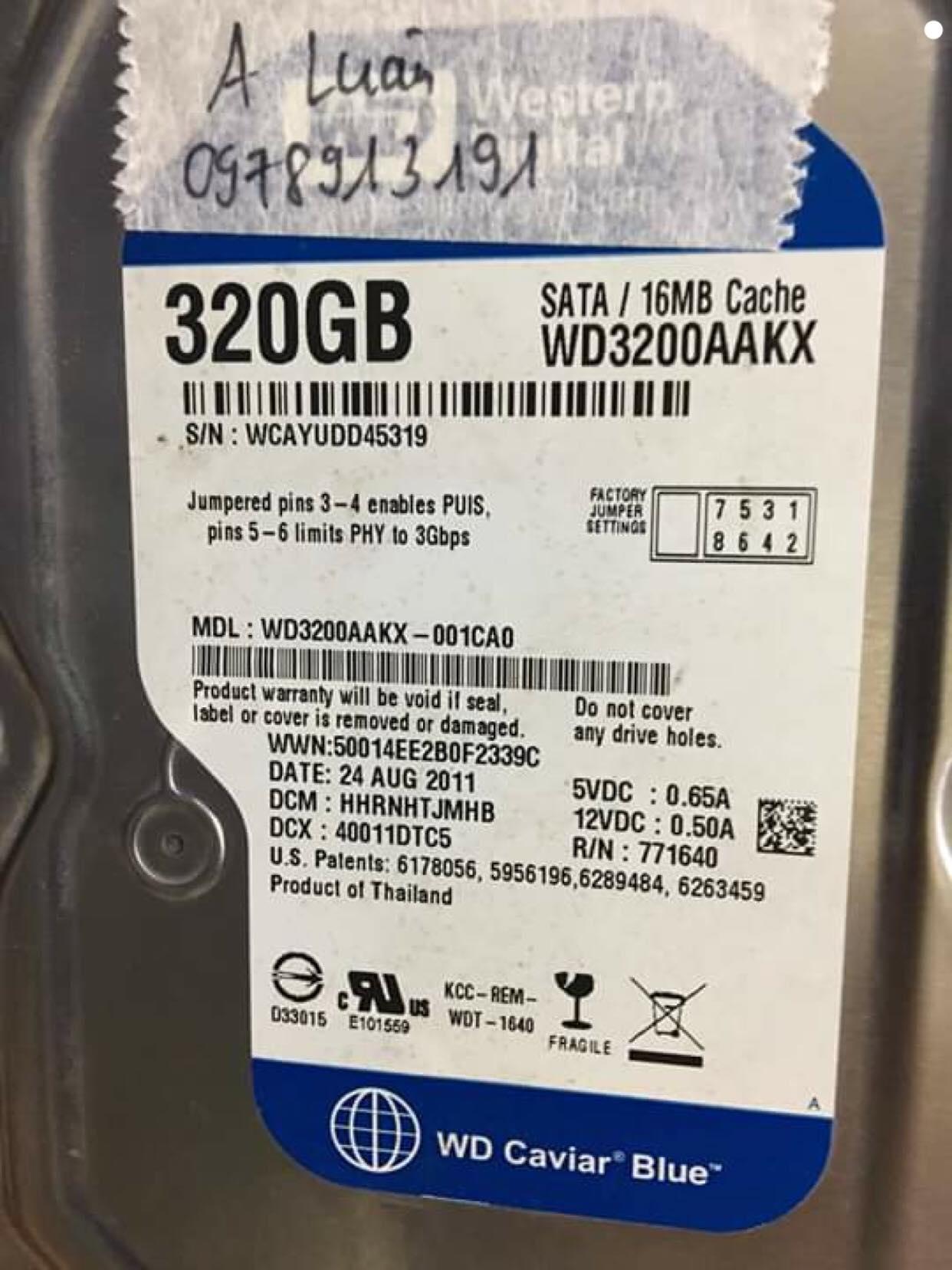 Cứu dữ liệu ổ cứng Western 320GB format nhầm - cuumaytinh