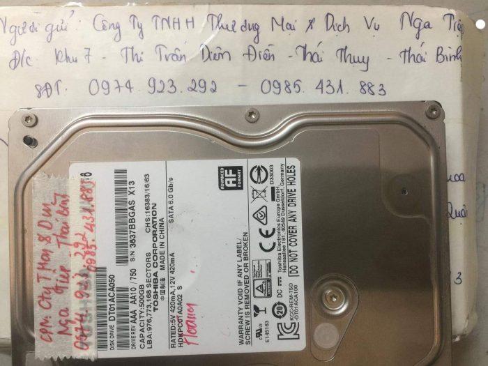 Phục hồi dữ liệu ổ cứng Toshiba 500GB lỗi đầu đọc tại Thái Bình  24/12/2018 - cuumaytinh
