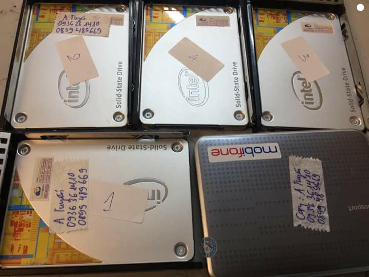 Khôi phục dữ liệu Server HP 6 ổ cứng SSD 240GB báo đèn vàng 07/01/2019 - cuumaytinh