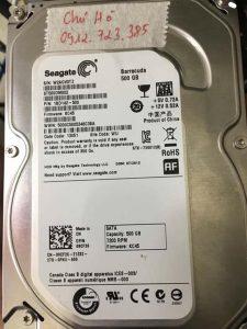 khôi phục dữ liệu ổ cứng Seagate 500GB xóa nhầm 25.12.2018 - cuumaytinh