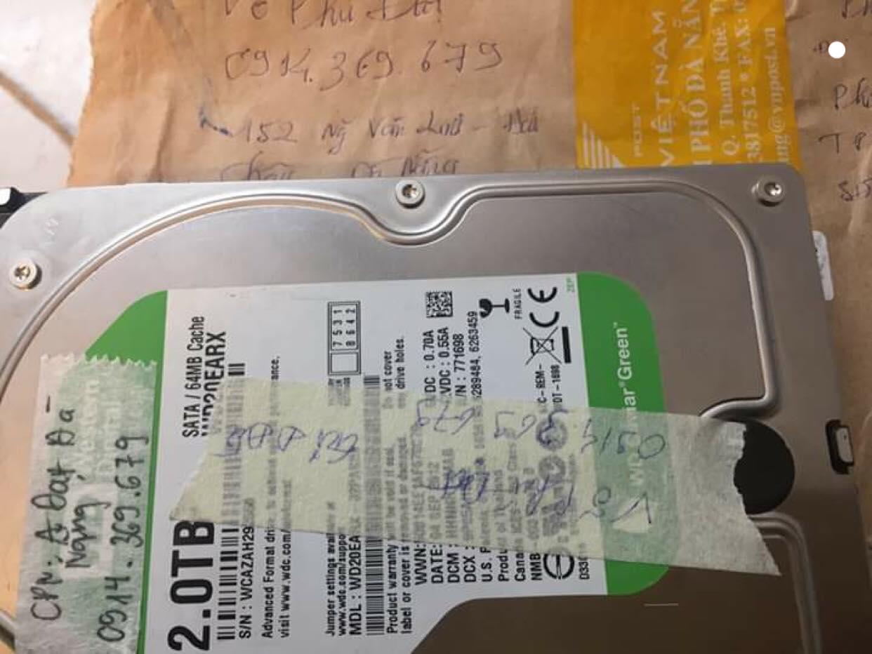 Lấy dữ liệu ổ cứng Western 2TB bad tại Đà Nẵng 23/01/2019 - cuumaytinh