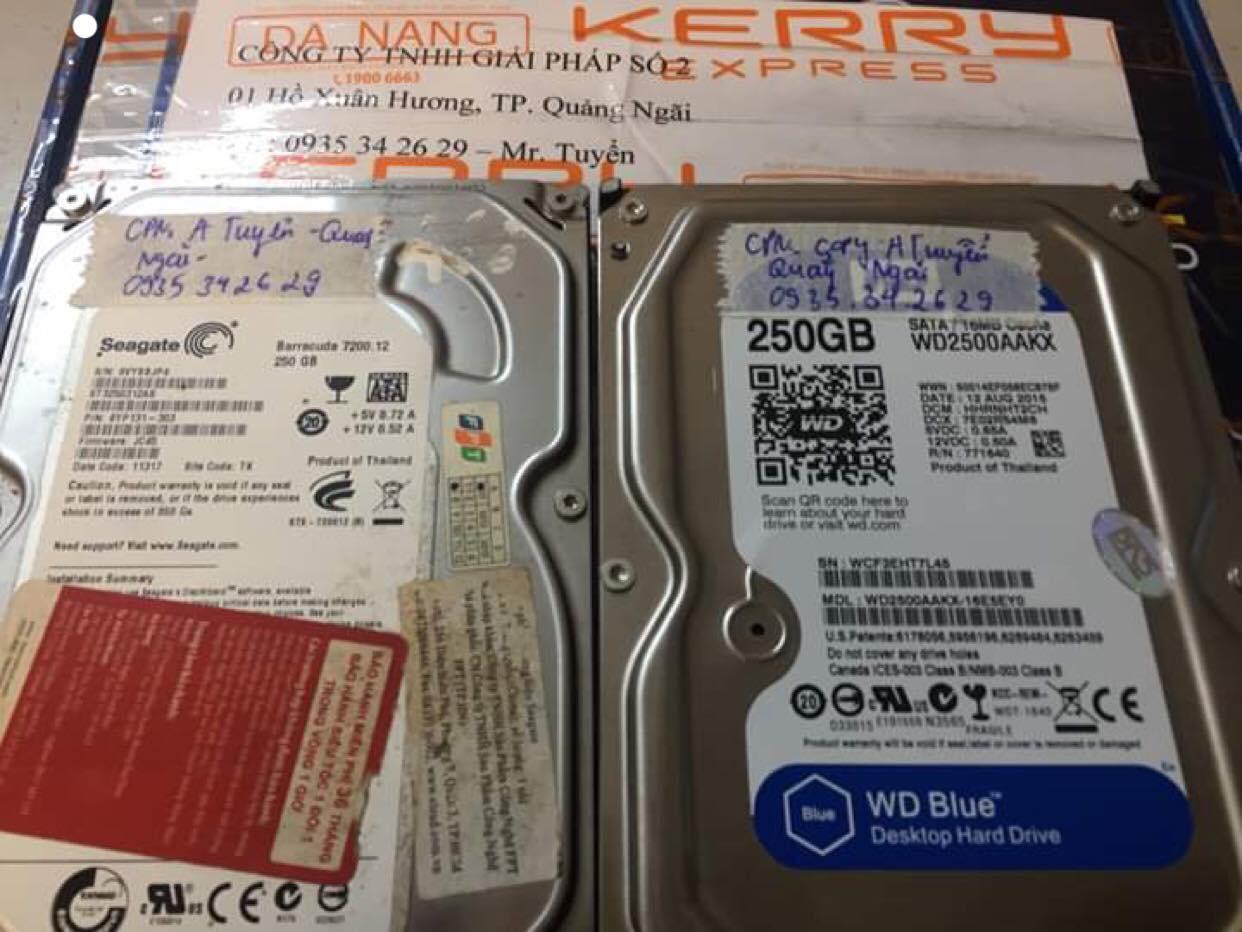 Cứu dữ liệu ổ cứng Seagate 250GB không nhận tại Quảng Ngãi 22/03/2019 - cuumaytinh