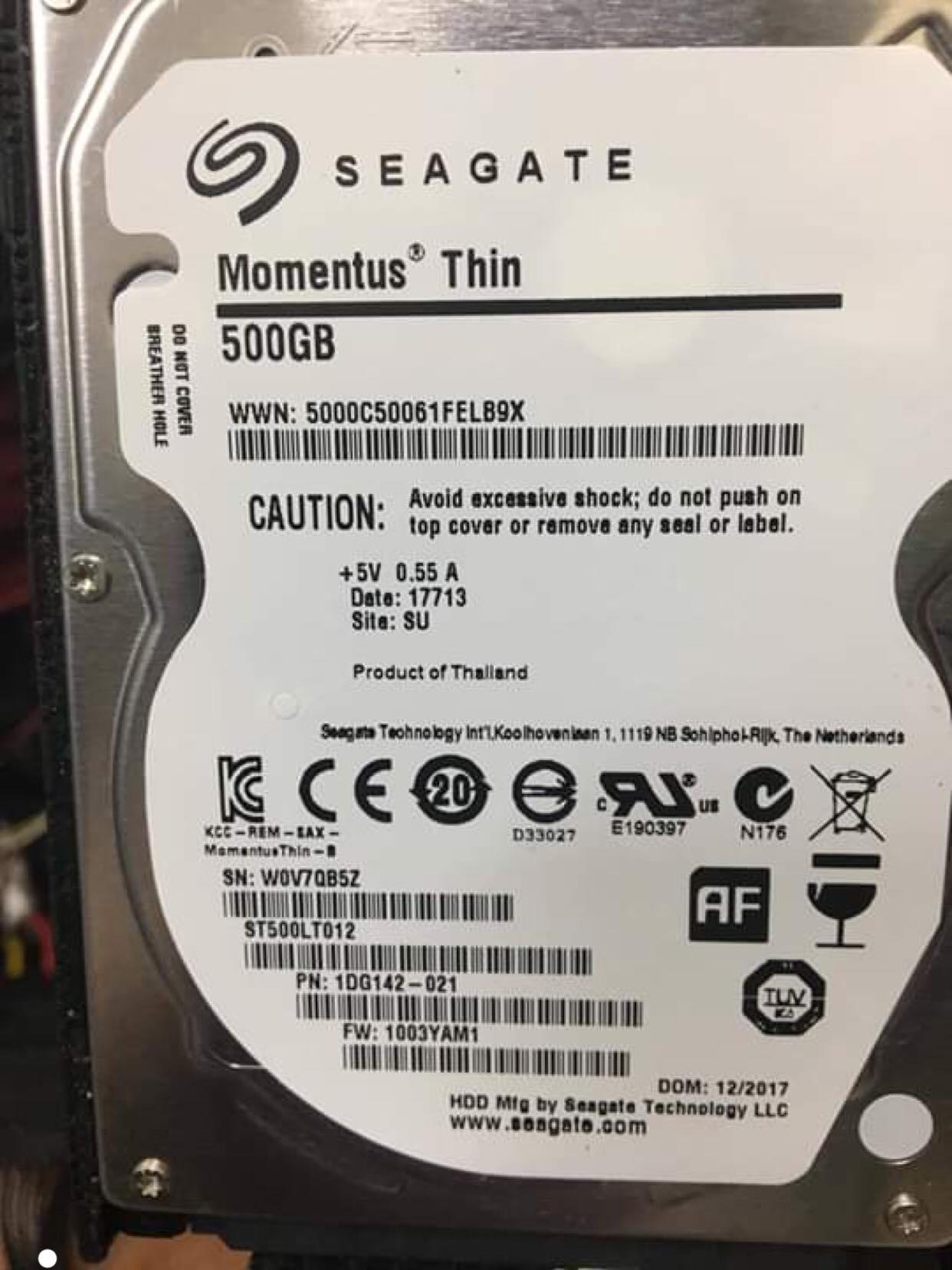 Khôi phục dữ liệu ổ cứng Seagate 500GB mất dữ liệu 14/03/2019 - cuumaytinh