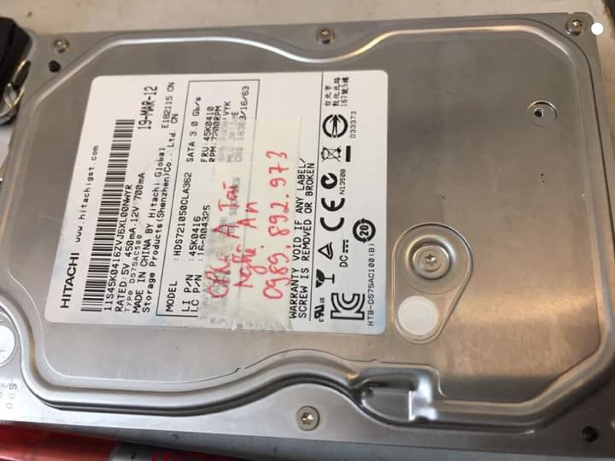 Lấy dữ liệu ổ cứng Hitachi 320GB lỗi cơ tại Nghệ An 13/03/2019 - cuumaytinh