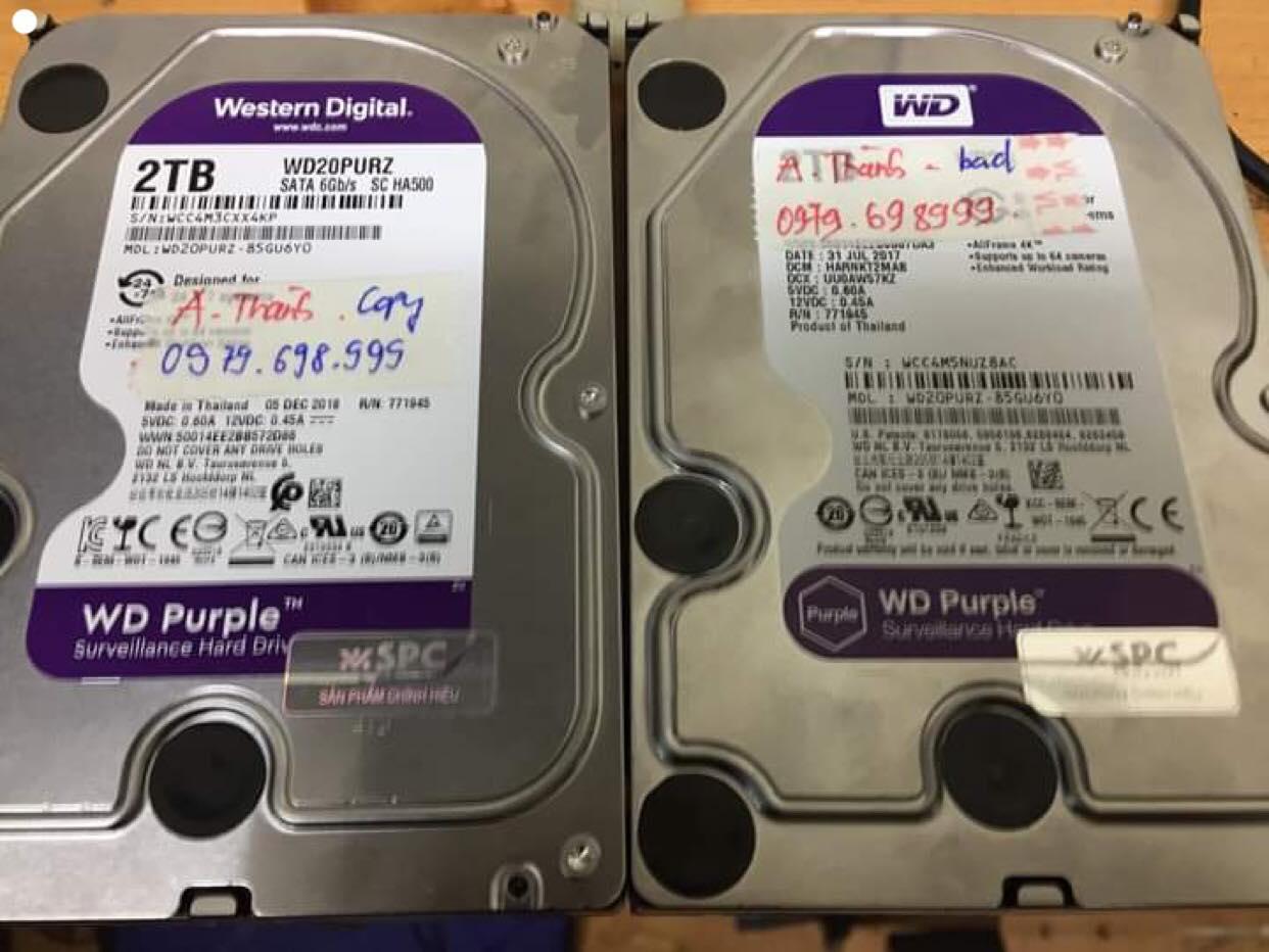 Phục hồi dữ liệu ổ cứng Western 2TB bad  27/03/2019.- cuumaytinh