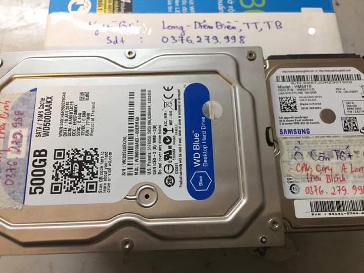 Phục hồi dữ liệu ổ cứng Western 500GB lỗi cơ tại Thái Bình 28/02/2019 - cuumaytinh