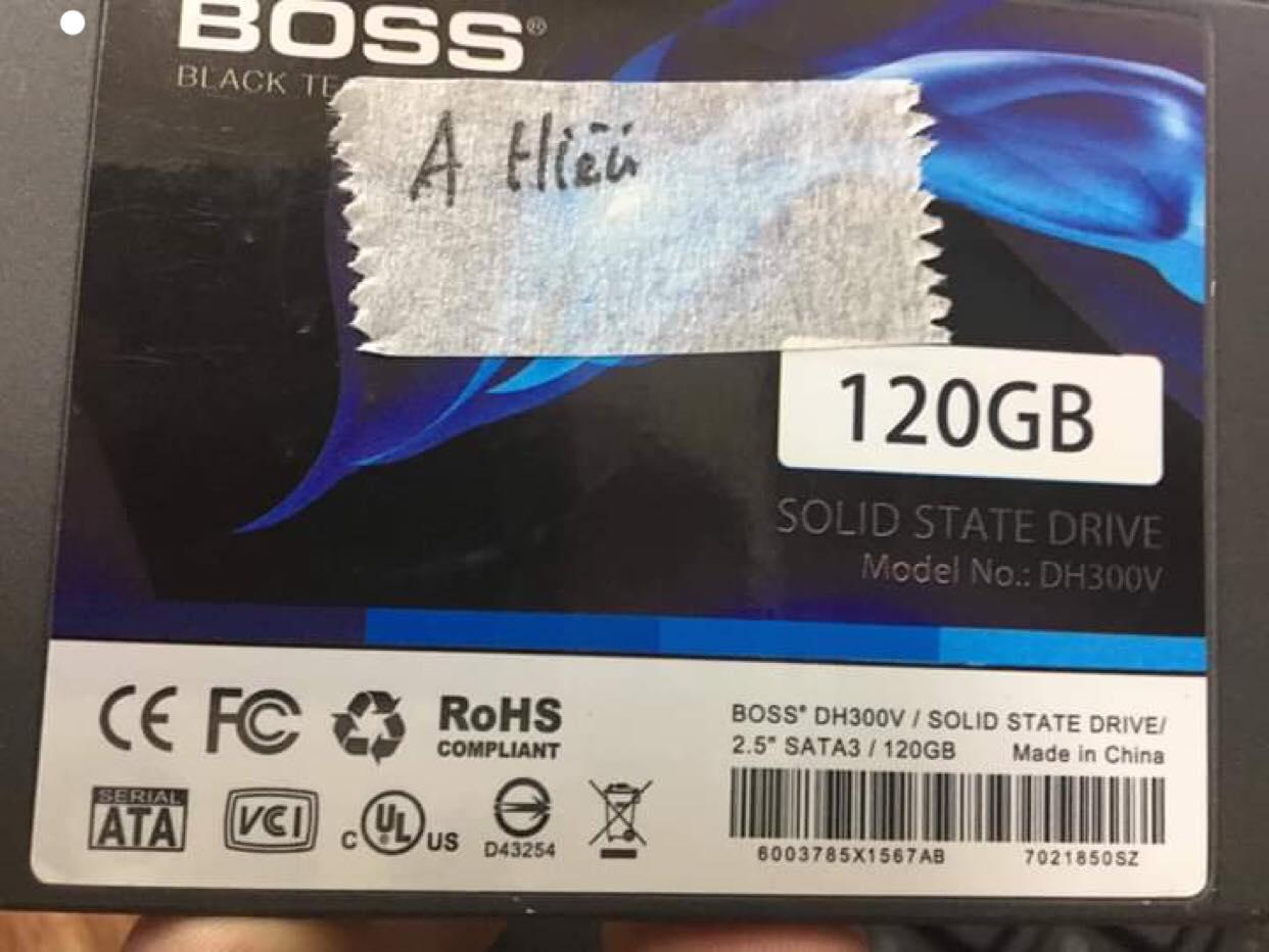 Cứu dữ liệu ổ cứng SSD 120GB yêu cầu format 28/03/2019 - cuumaytinh