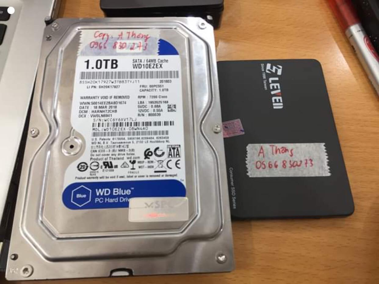 Cứu dữ liệu ổ cứng SSD Leven 120GB không nhận 22/04/2019 - cuumaytinh