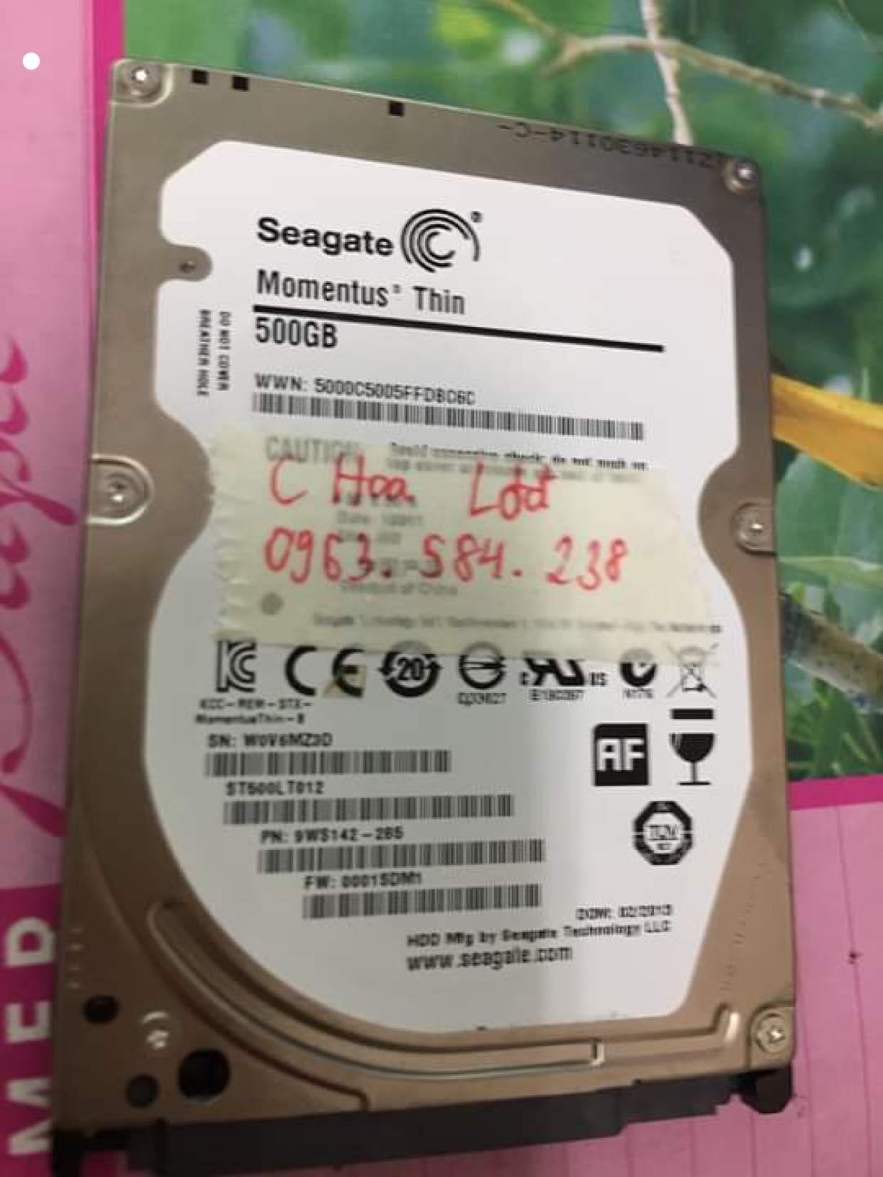 Lấy dữ liệu ổ cứng Seagate 500GB lỗi đầu đọc 17/04/2019 - cuumaytinh