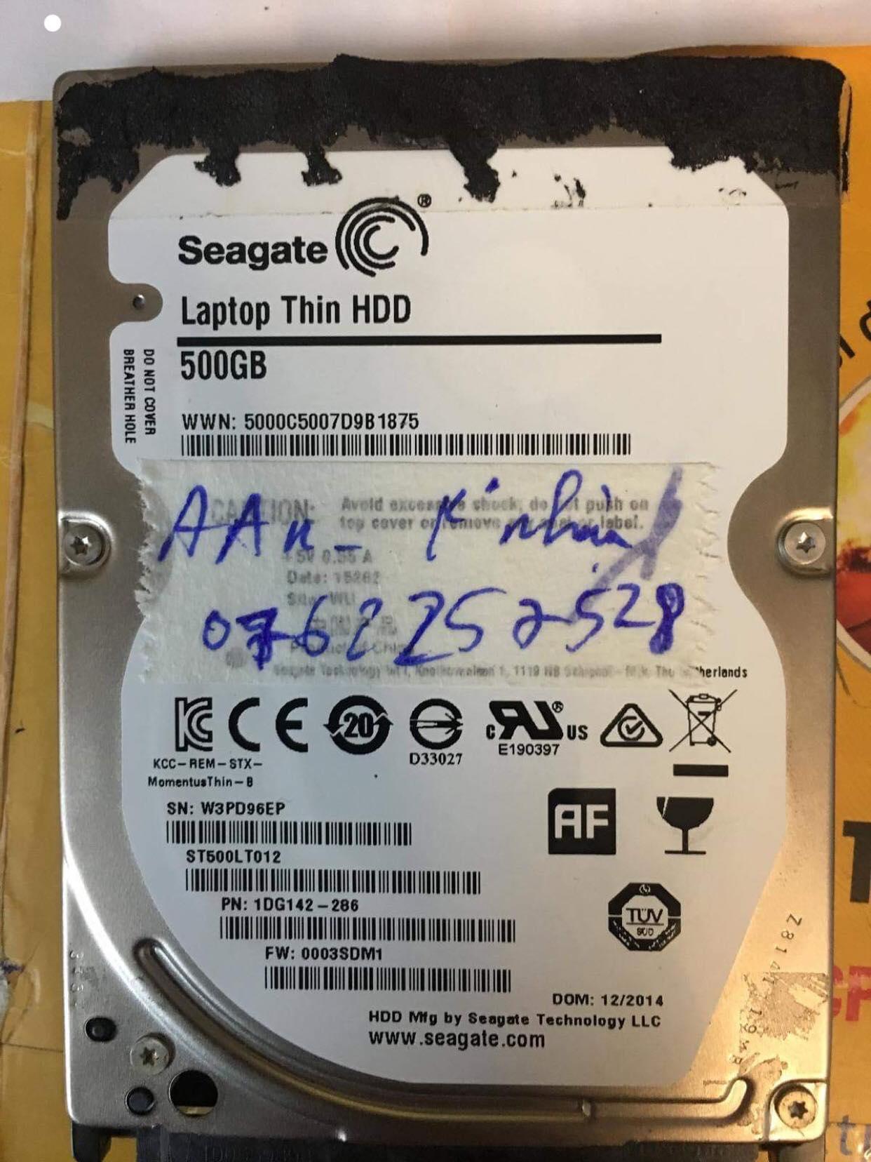 Lấy dữ liệu ổ cứng Seagate 500GB không nhận 05/04/2019 - cuumaytinh