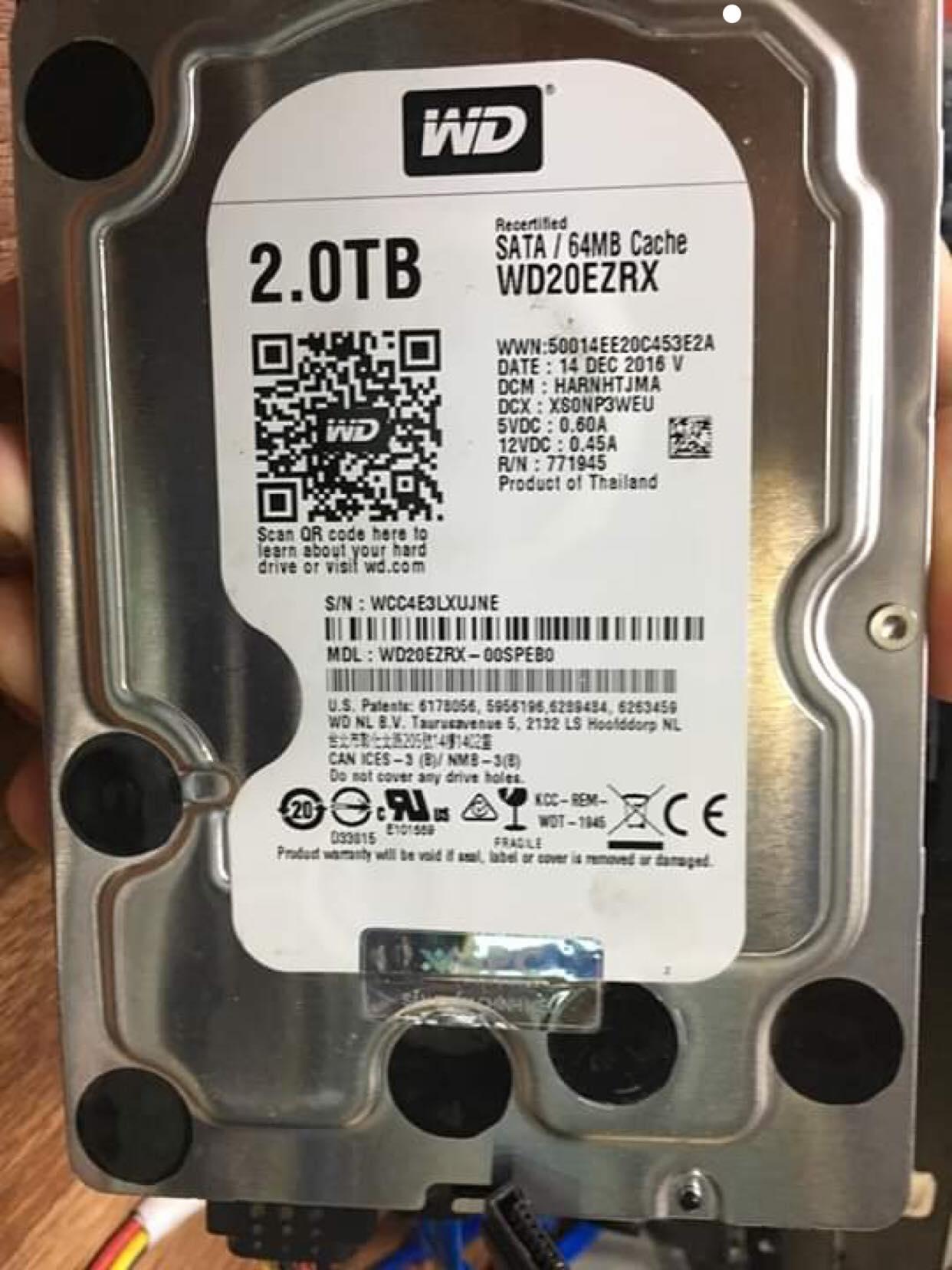 Lấy dữ liệu ổ cứng Western 1TB mất dữ liệu 11/04/2019 - cuumaytinh