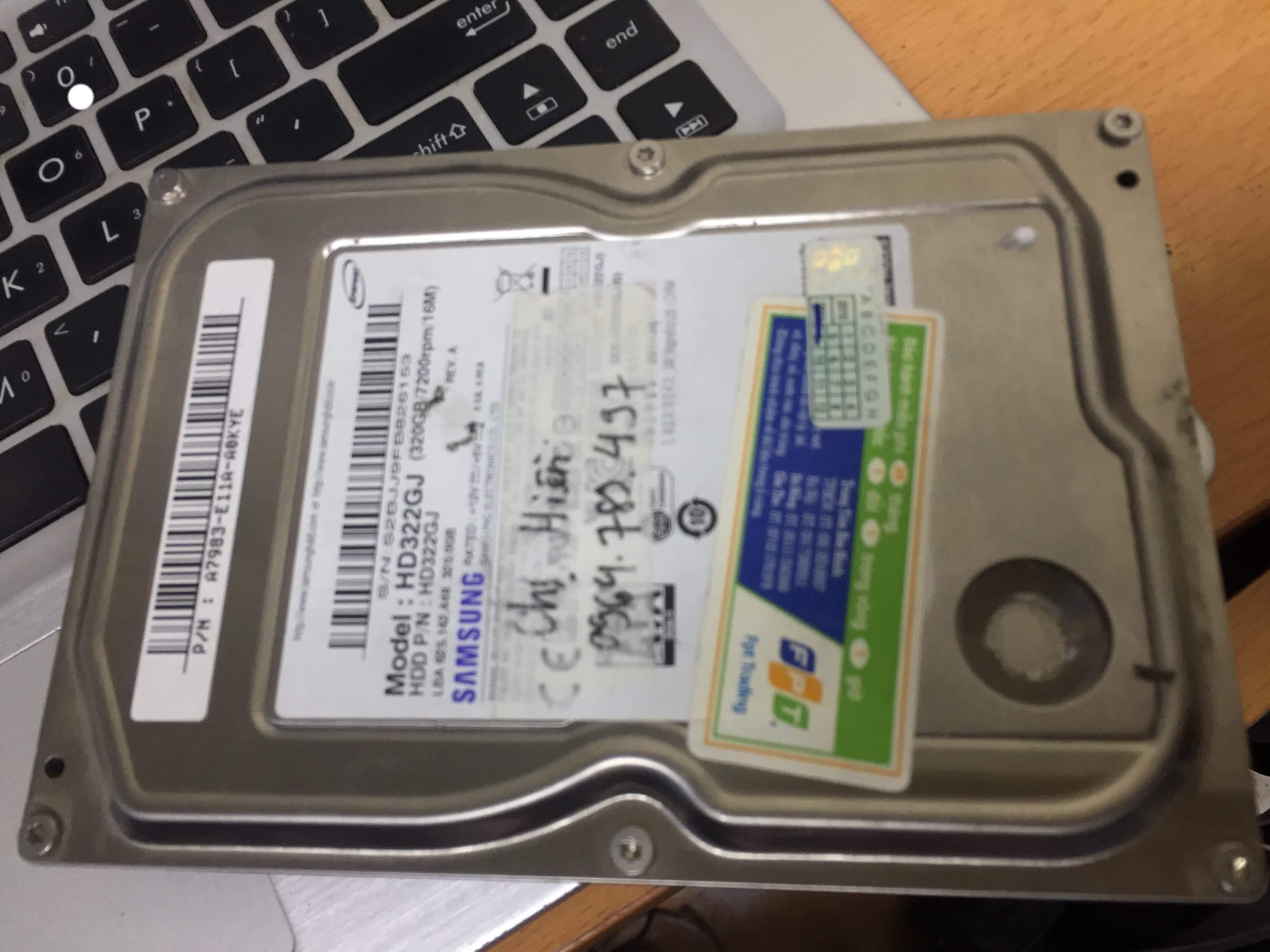 Cứu dữ liệu ổ cứng Samsung 320GB lỗi cơ 18/04/2019 - cuumaytinh