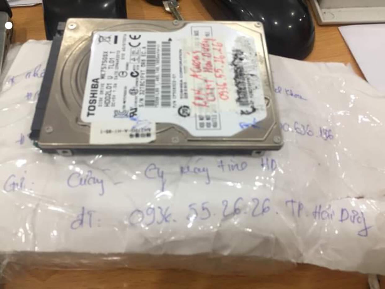 Cứu dữ liệu ổ cứng Toshiba 500GB lỗi cơ tại Hải Dương 15/05/2019 - cuumaytinh