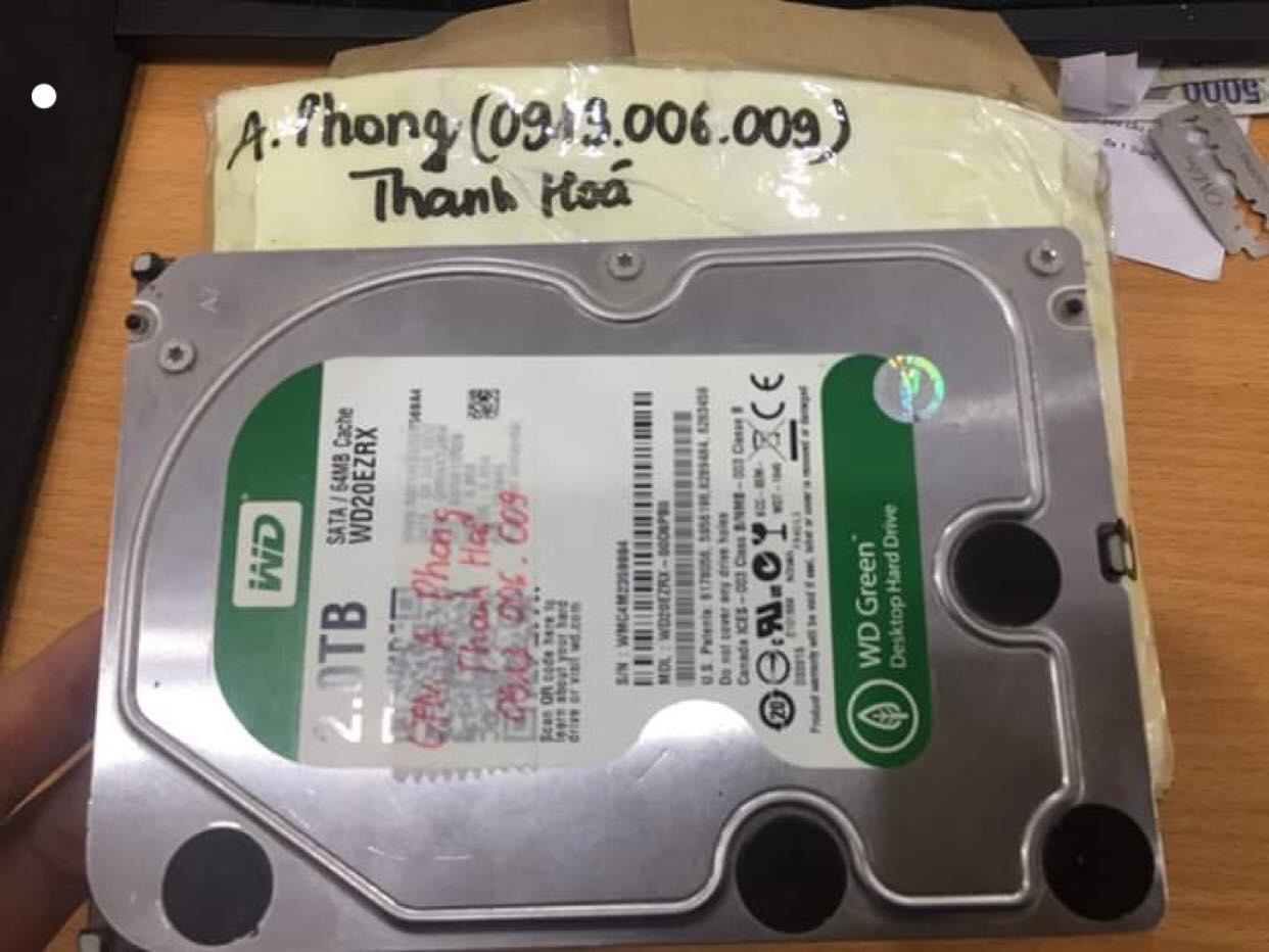 Khôi phục dữ liệu ổ cứng Western 2TB không nhận tại Thanh Hóa 15/05/2019 - cuumaytinh