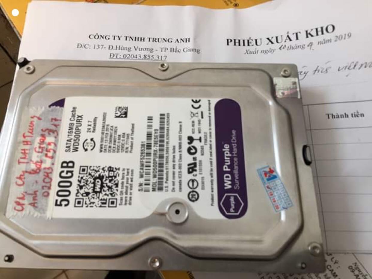 Khôi phục dữ liệu ổ cứng Western 500GB đầu đọc kém tại Bắc Giang 26/04/2019 - cuumaytinh