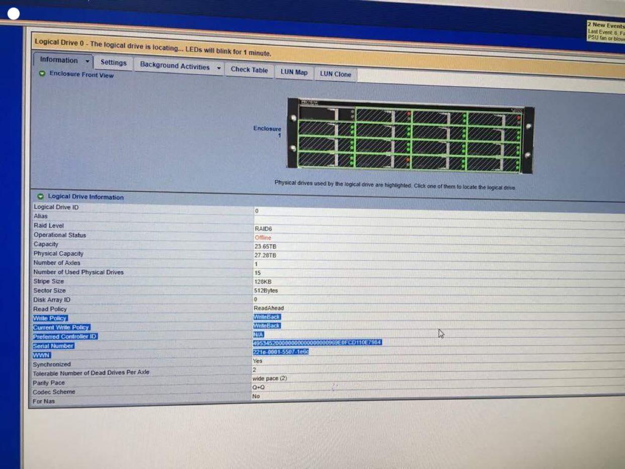 Hệ thống lưu trữ SAN với 16HDD dung lượng 2TB cấu hình raid 6 - cuumaytinh