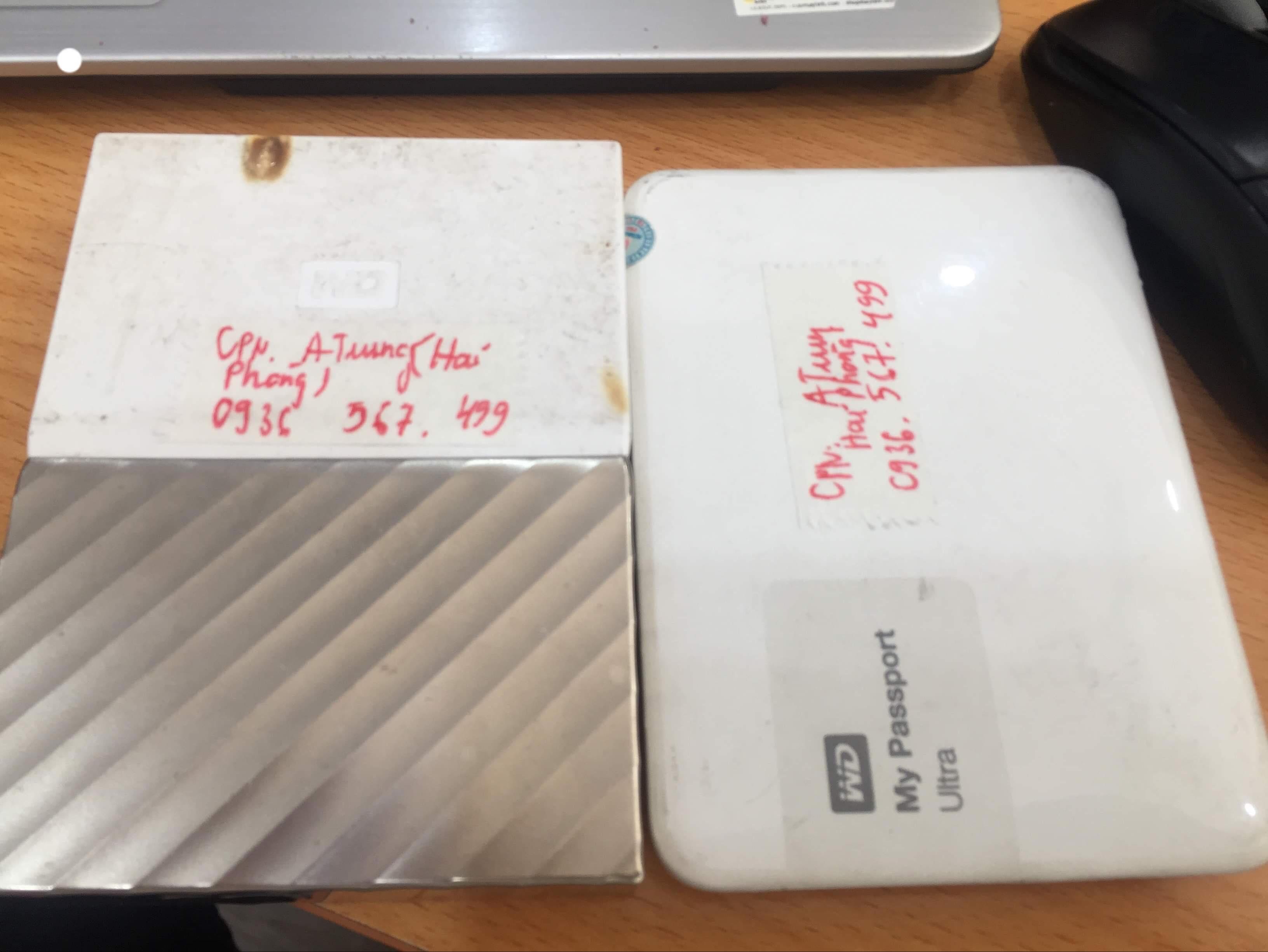 Phục hồi dữ liệu ổ cứng Western 1TB lỗi cơ tại Hải Phòng 27/04/2019 - cuumaytinh