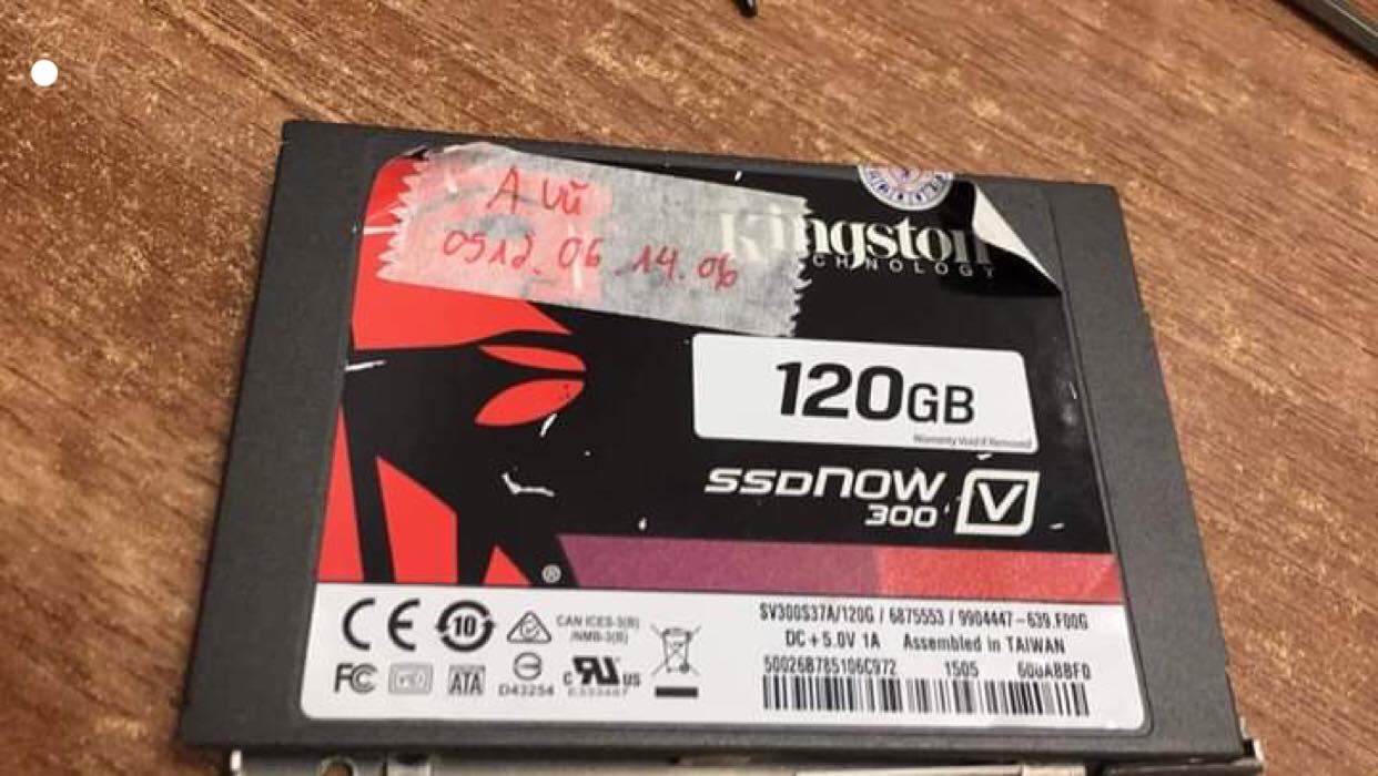 Phục hồi dữ liệu ổ cứng SSD Kingston 120GB không nhận - 21/05/2019