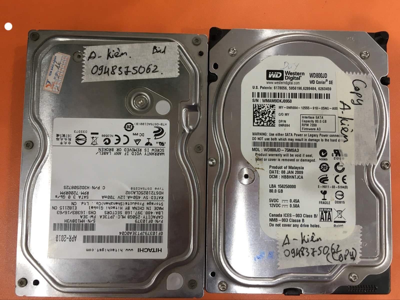 Khôi phục dữ liệu ổ cứng Hitachi 320GB lỗi đầu đọc 18/06/2019 - cuumaytinh