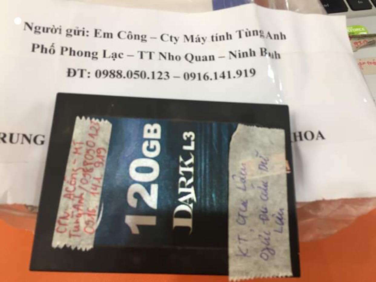 Khôi phục dữ liệu ổ cứng SSD 120GB không nhận tại Ninh Bình 29/05/2019 - cuumaytinh