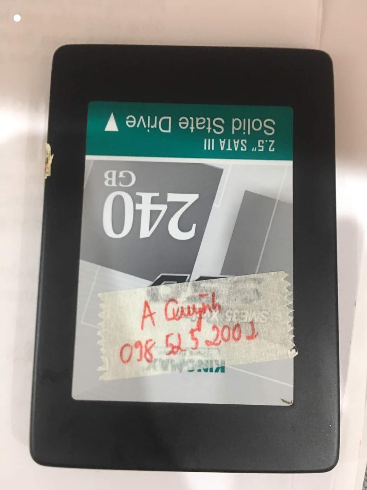 Khôi phục dữ liệu ổ cứng SSD KingMax 240GB không nhận 21/06/2019 - cuumaytinh