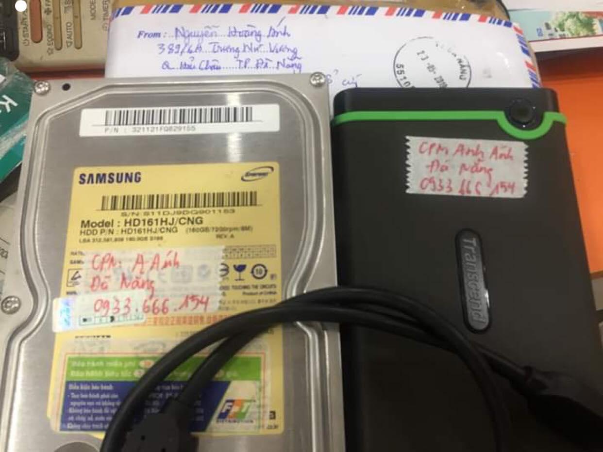 Lấy dữ liệu ổ cứng Samsung 160GB không nhận tại Đà Nẵng 06/06/2019 - cuumaytinh