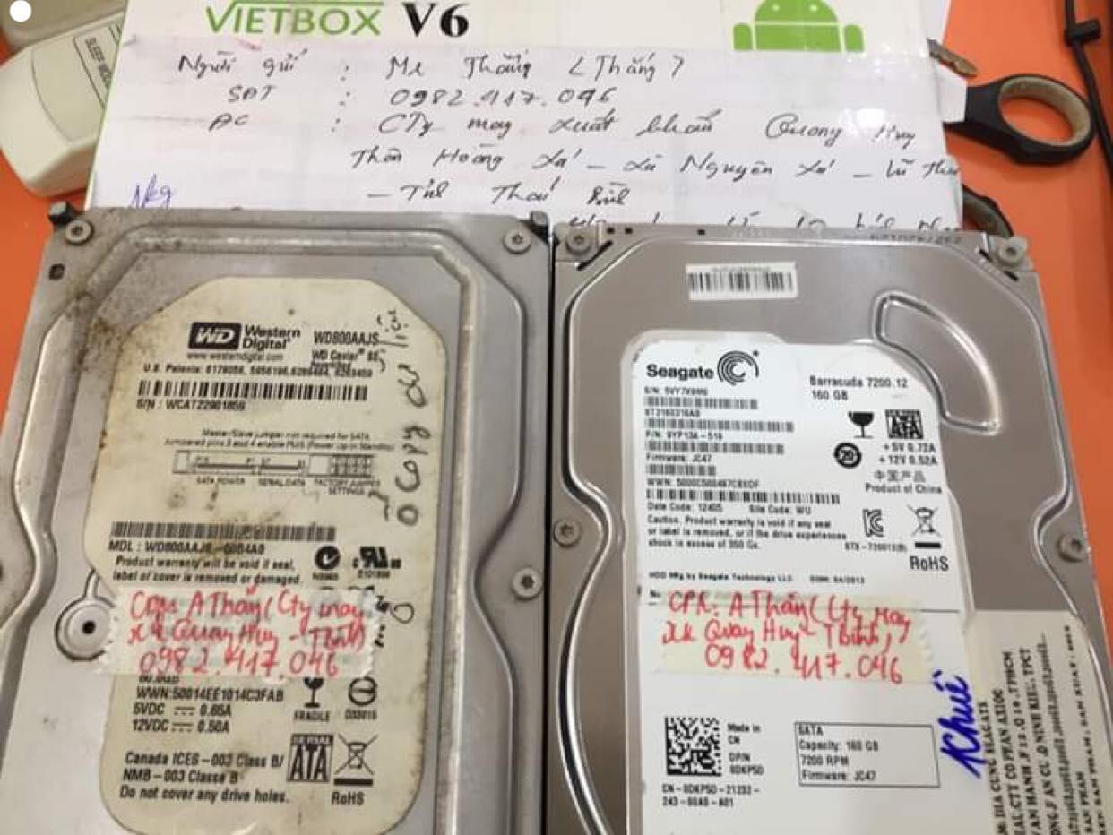 Lấy dữ liệu ổ cứng Western 80GB không nhận tại Thái Bình 05/06/2019 - cuumaytinh