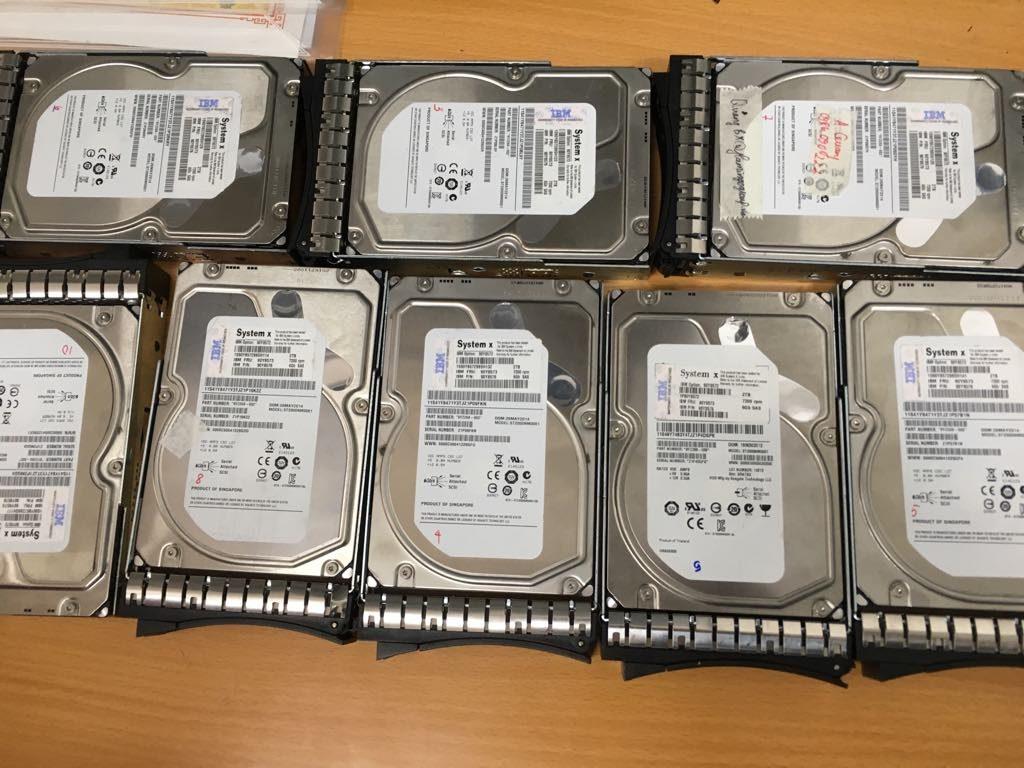khôi phục dữ liệu máy chủ IBM với 12HDD chay raid 10 mất cấu hình raid - 06.2019. ảnh 2