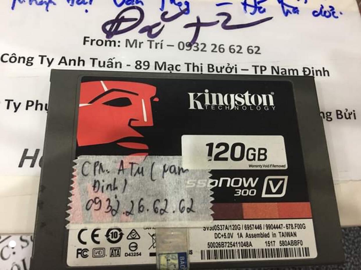 Lấy dữ liệu ổ cứng SSD Kingston 120GB không nhận tại Nam Định 10/09/2019 - cuumaytinh