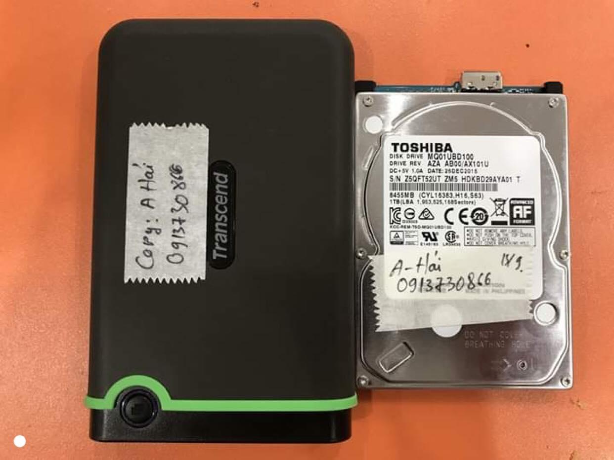 Khôi phục dữ liệu ổ cứng Toshiba 1TB bad 17/09/2019 - cuumaytinh
