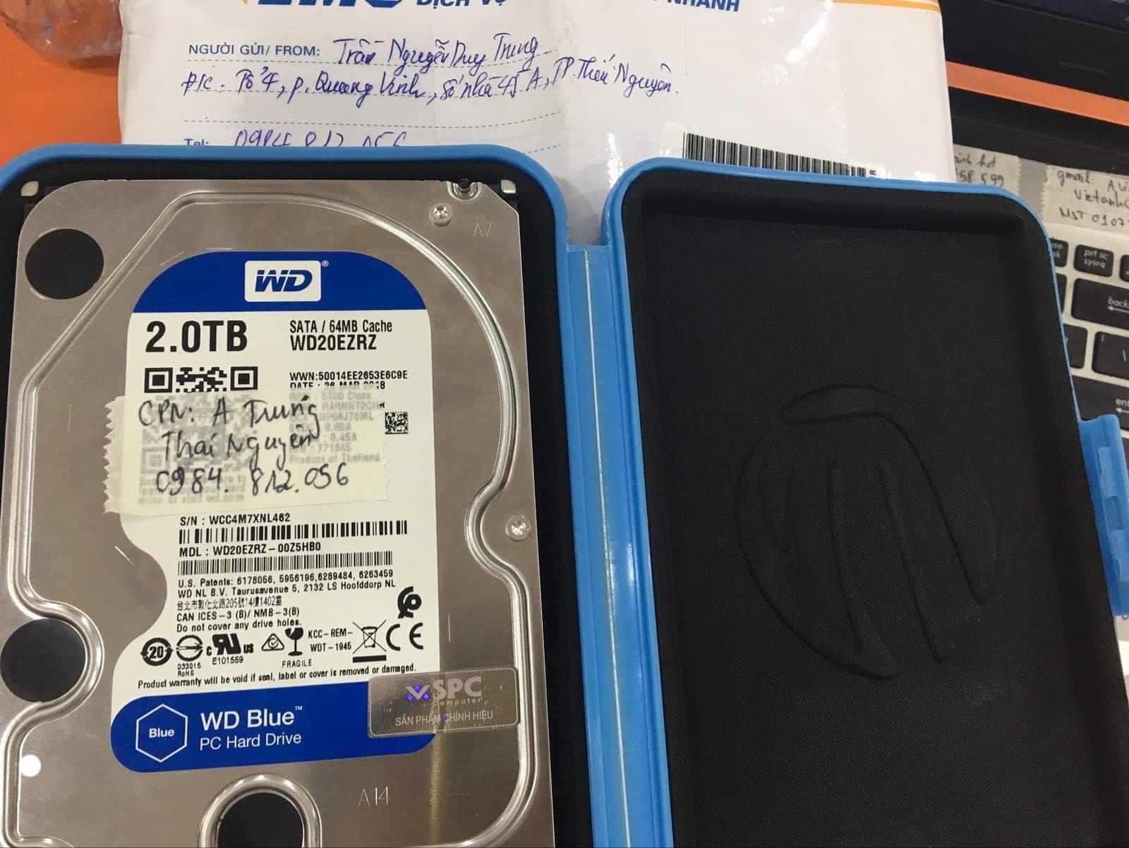 Khôi phục dữ liệu ổ cứng Western 2TB bad tại Thái Nguyên 06/09/2019 - cuumaytinh