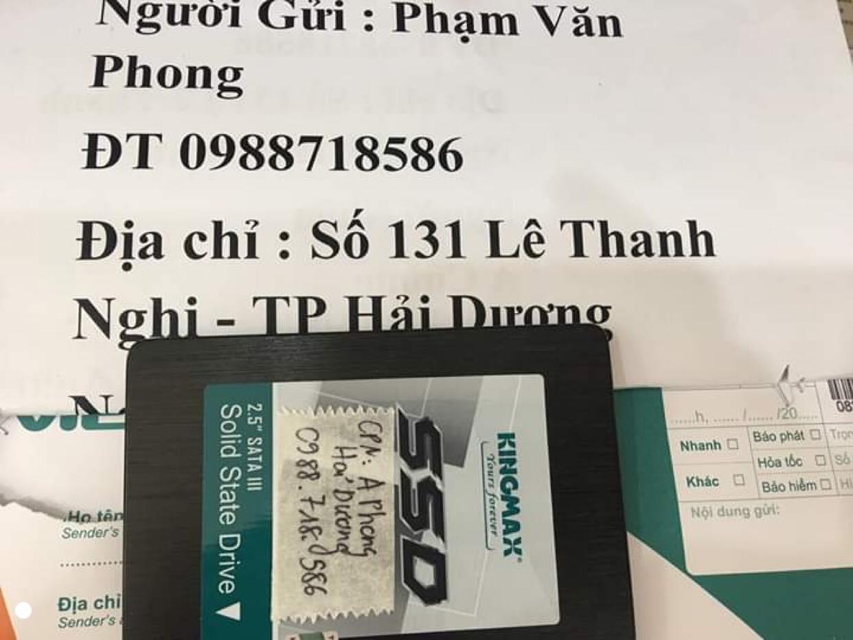 Lấy dữ liệu ổ cứng SSD KingMax 120GB không nhận tại Hải Dương 12/09/2019 - cuumaytinh- -