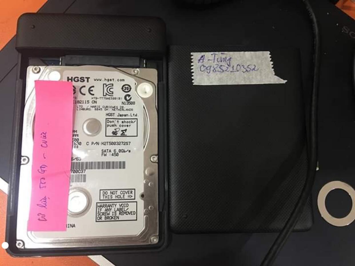 Phục hồi dữ liệu ổ cứng HGST 500GB lỗi đầu đọc 31/08/2019 - cuumaytinh