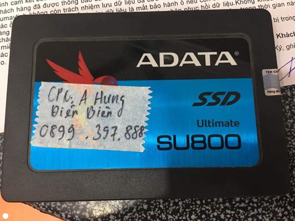 Phục hồi dữ liệu ổ cứng SSD Adata 120GB không nhận tại Điện Biên 18/09/2019 - cuumaytinh
