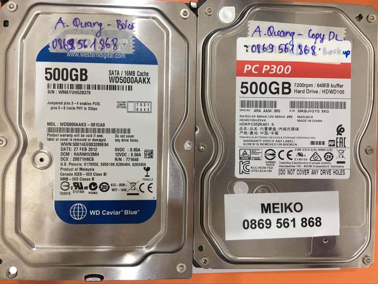 Lấy dữ liệu ổ cứng Western 500GB bó cơ 29/10/2019 - cuumaytinh