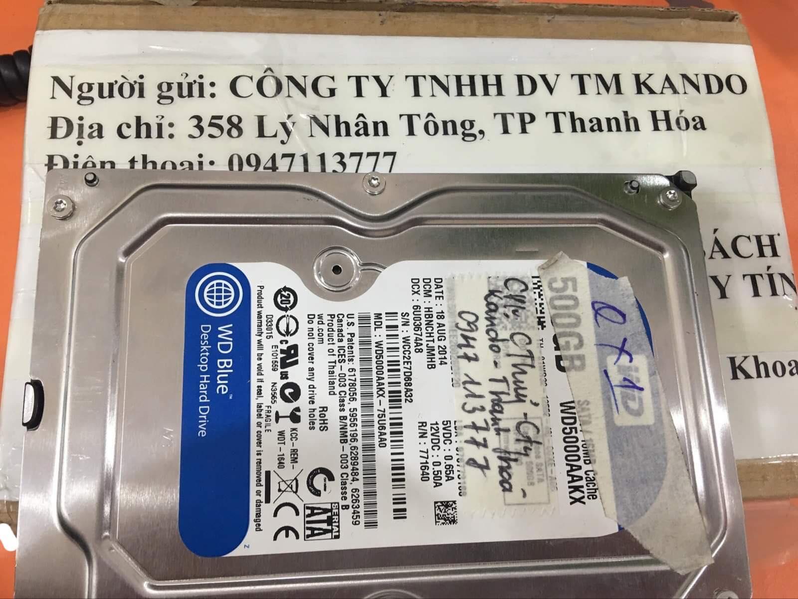 Khôi phục dữ liệu ổ cứng Western 500GB đầu đọc kém 30/11/2019 - cuumaytinh