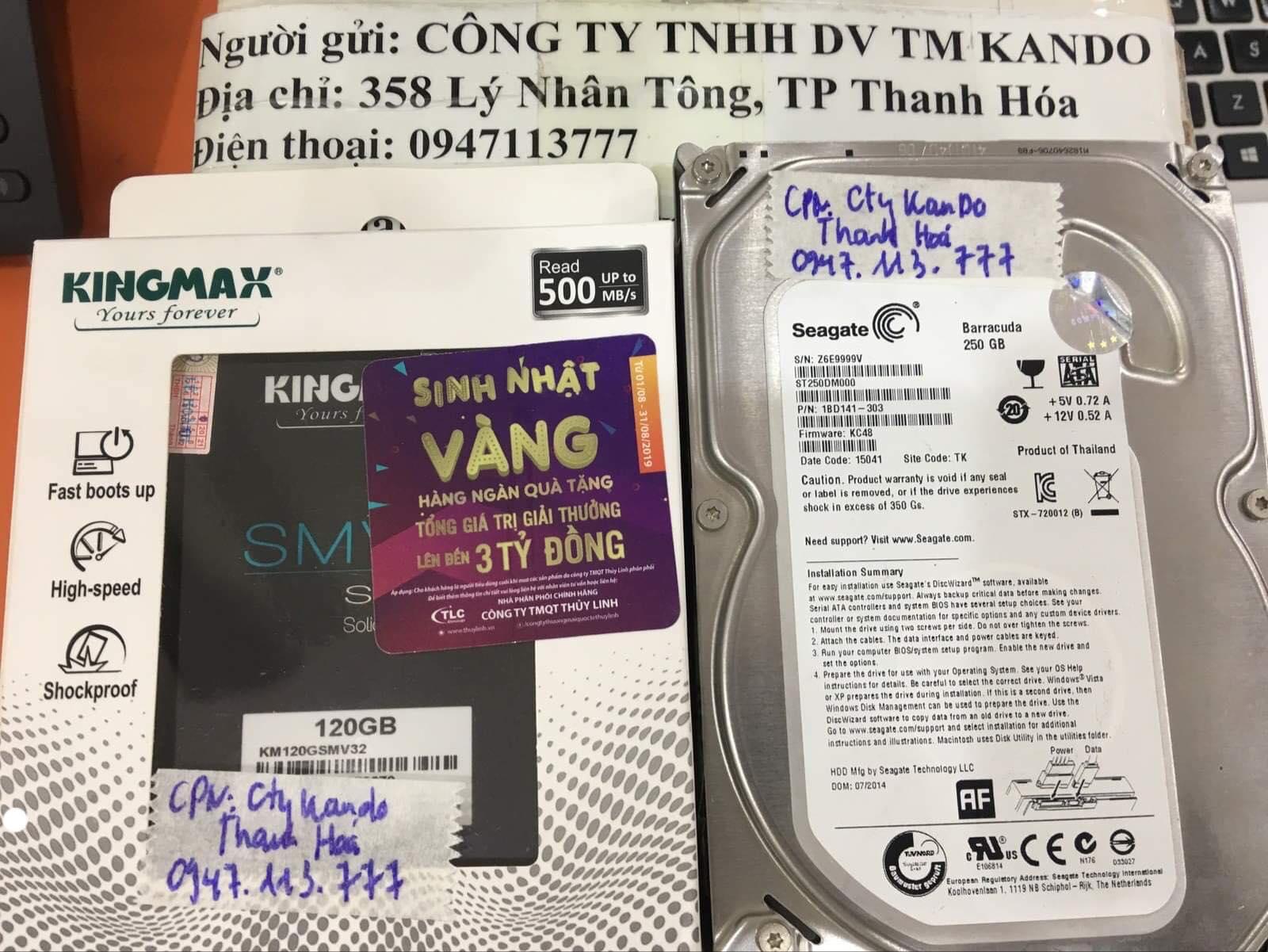 Cứu dữ liệu ổ cứng Seagate 250GB đầu đọc kém tại Thanh Hóa 16/12/2019 - cuumaytinh