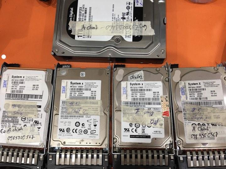 Cứu dữ liệu máy chủ IBM với 4HDDx300GB lỗi 3HDD 07/10/2019 - cuumaytinh
