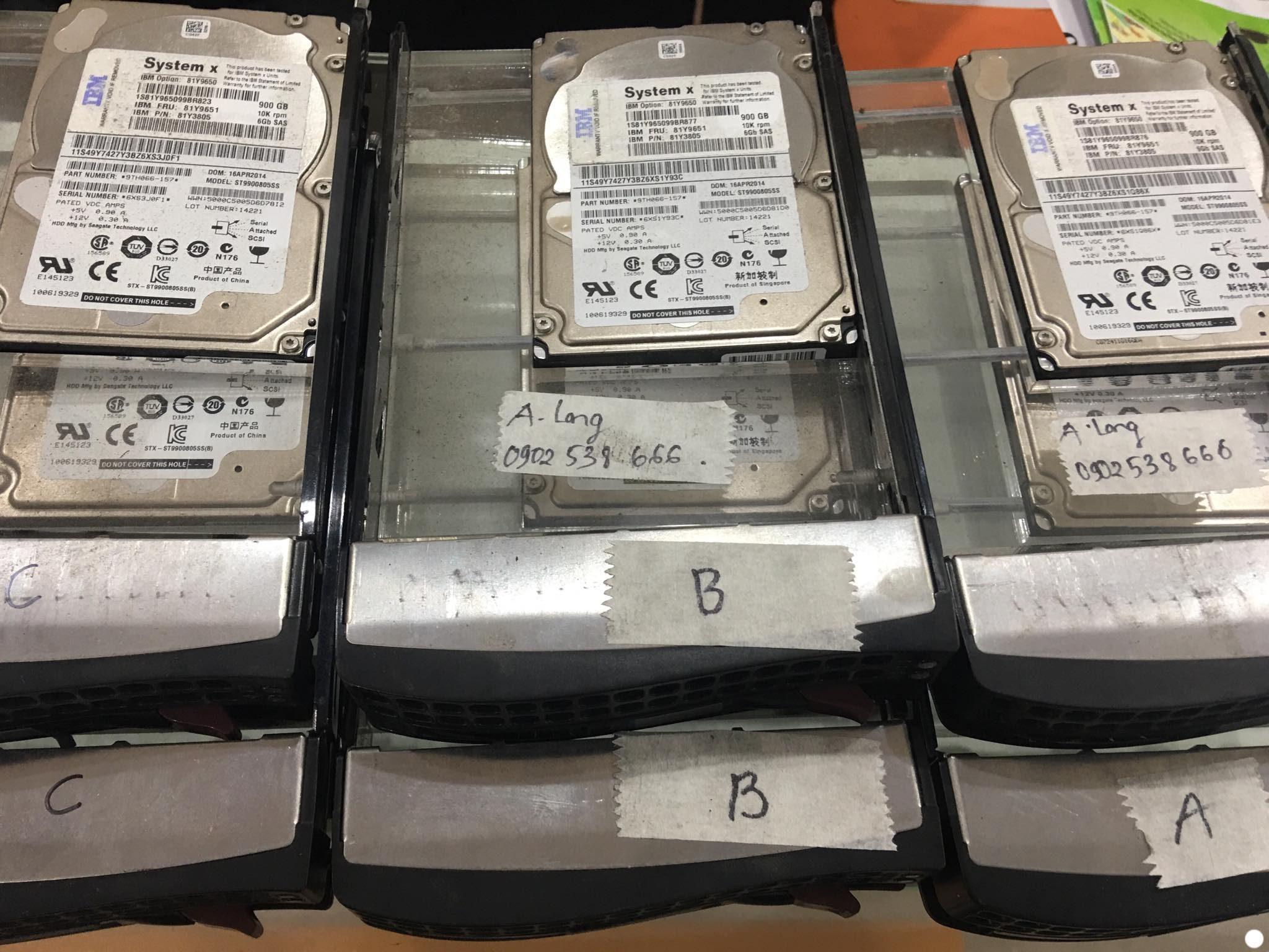 Cứu dữ liệu máy chủ SystemX với 6HDDx900GB mất cấu hình RAID 14/01/2020 - cuumaytinh