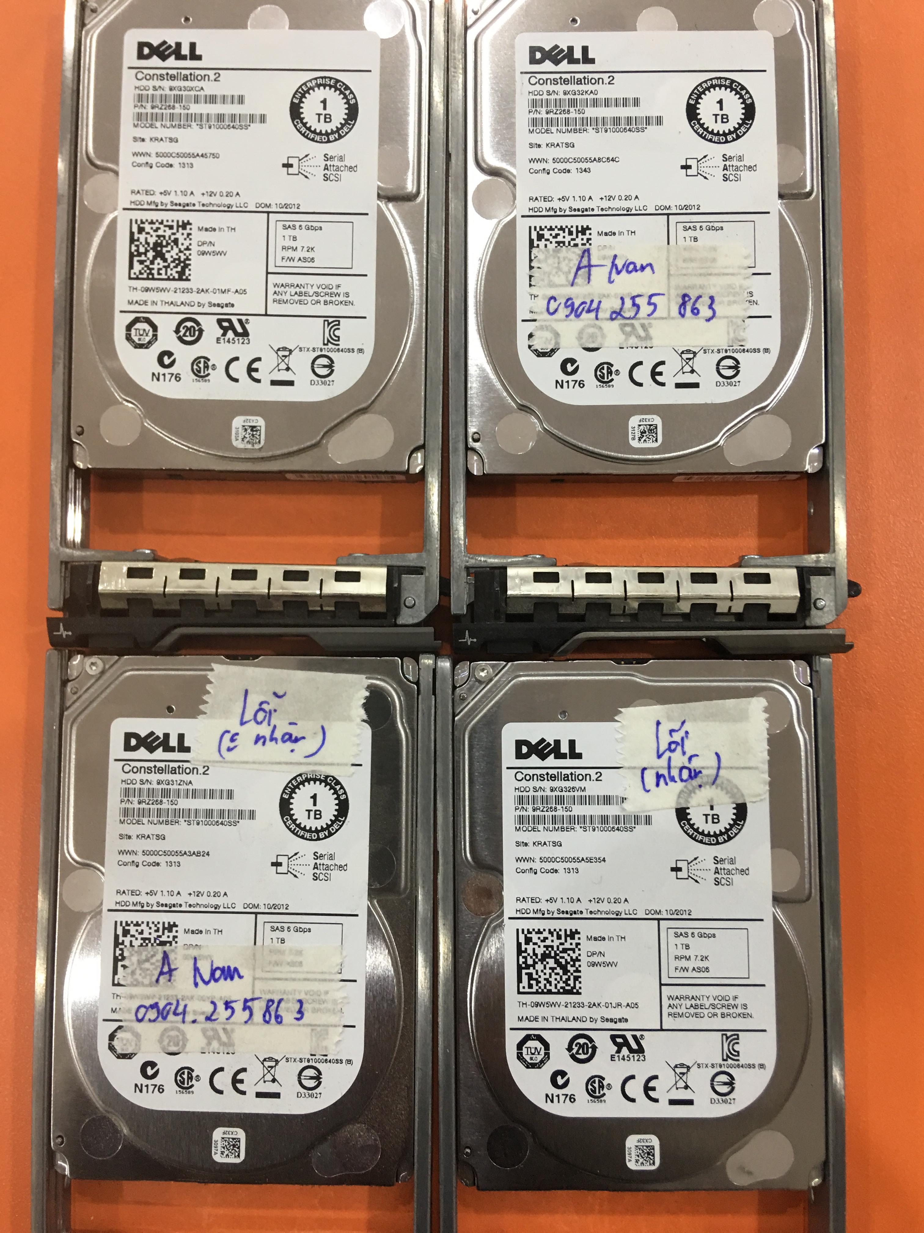 Khôi phục dữ liệu máy chủ Dell với 4HDDx1TB lỗi 2HDD 14/02/2020 - cuumaytinh