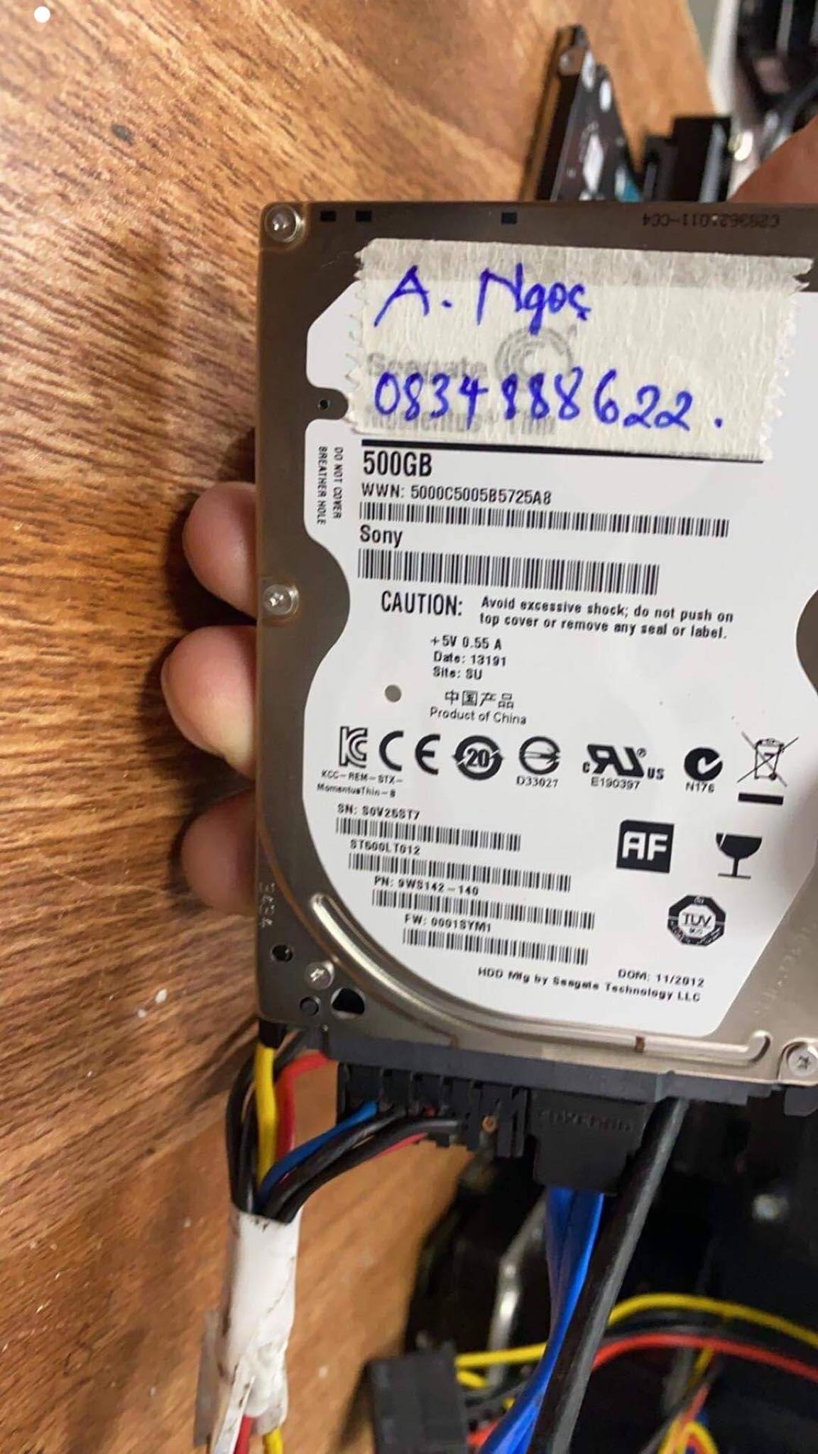 Khôi phục dữ liệu ổ cứng Seagate 500GB bad 10/02/2020 - cuumaytinh