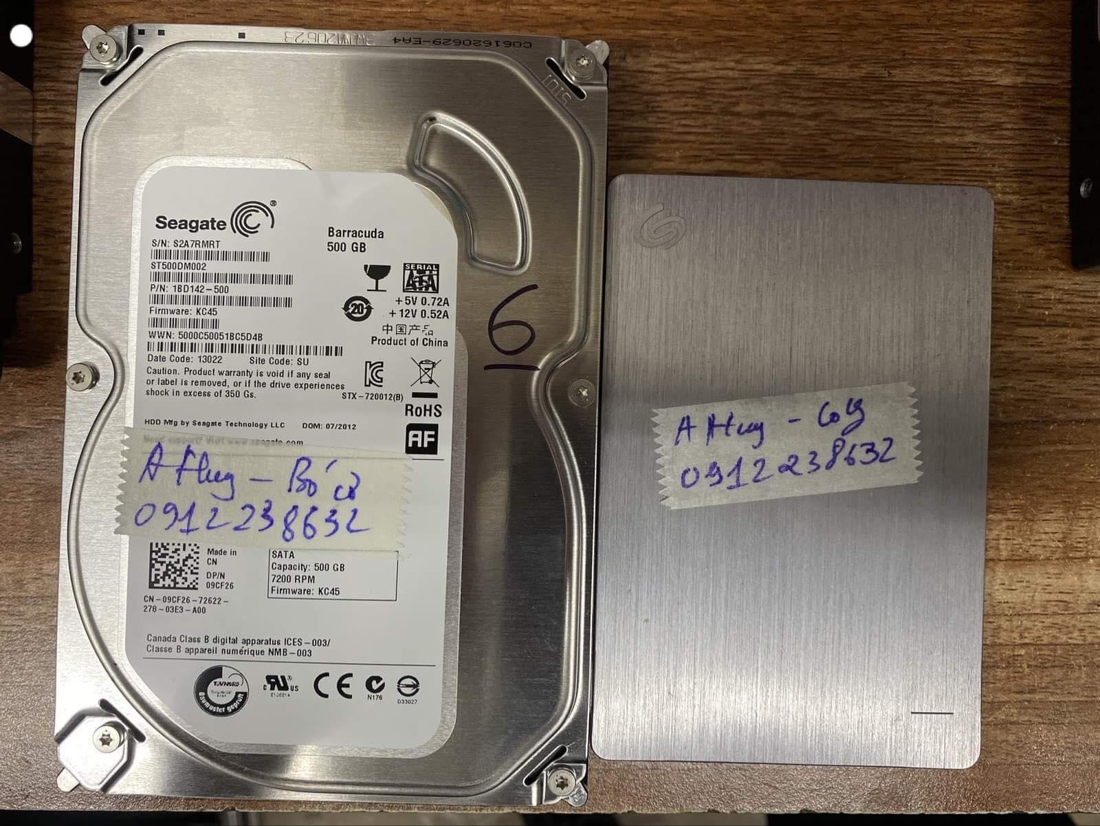 Cứu dữ liệu ổ cứng Seagate 500GB bó cơ 25/02/2020 - cuumaytinh