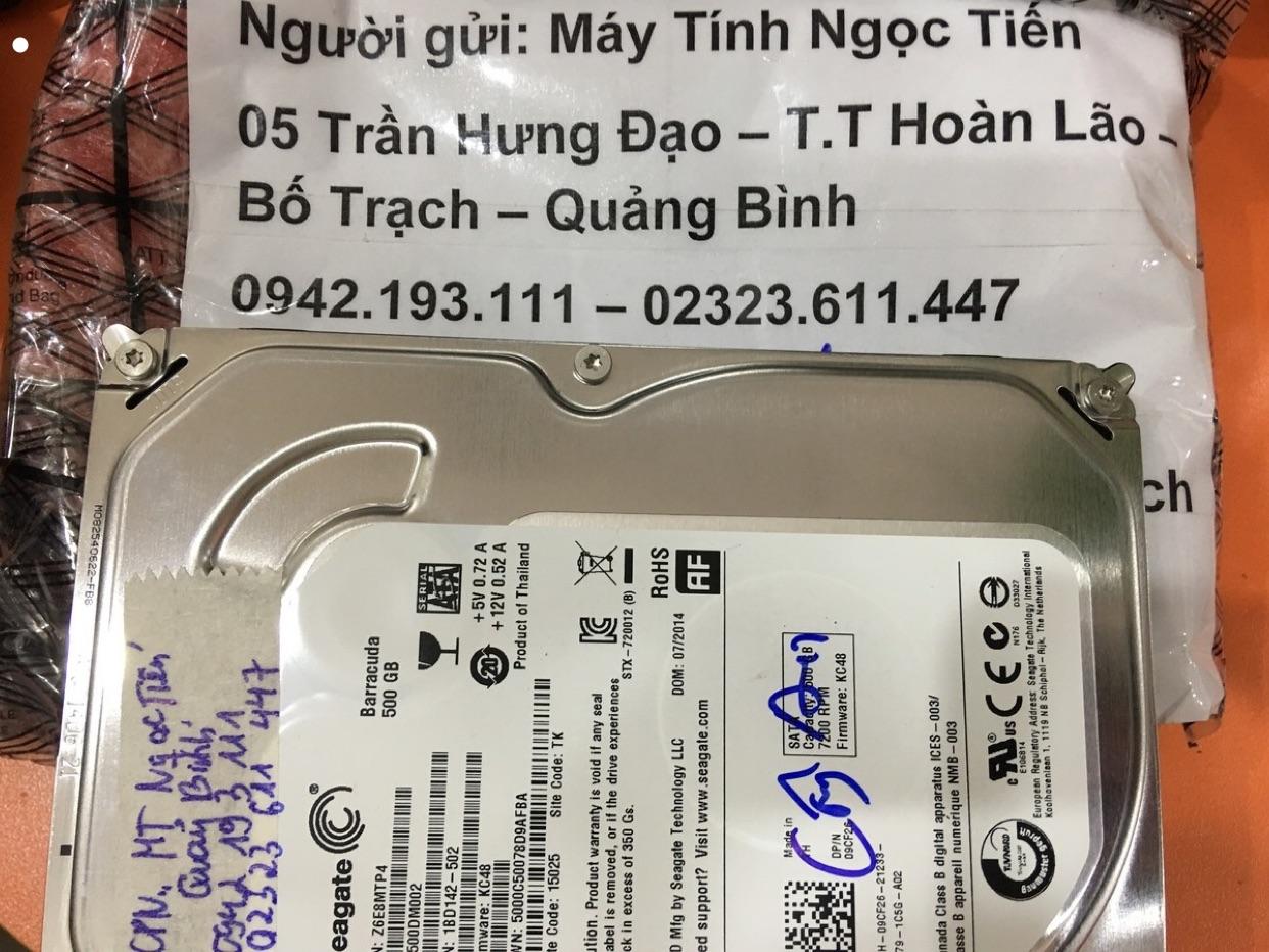 Cứu dữ liệu ổ cứng Seagate 500GB đầu đọc kém tại Quảng Bình 05/03/2020 - cuumaytinh