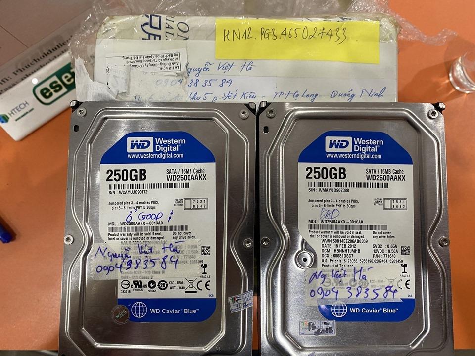 Cứu dữ liệu ổ cứng Western 500GB lỗi cơ tại Quảng Ninh 23/04/2020 - cuumaytinh