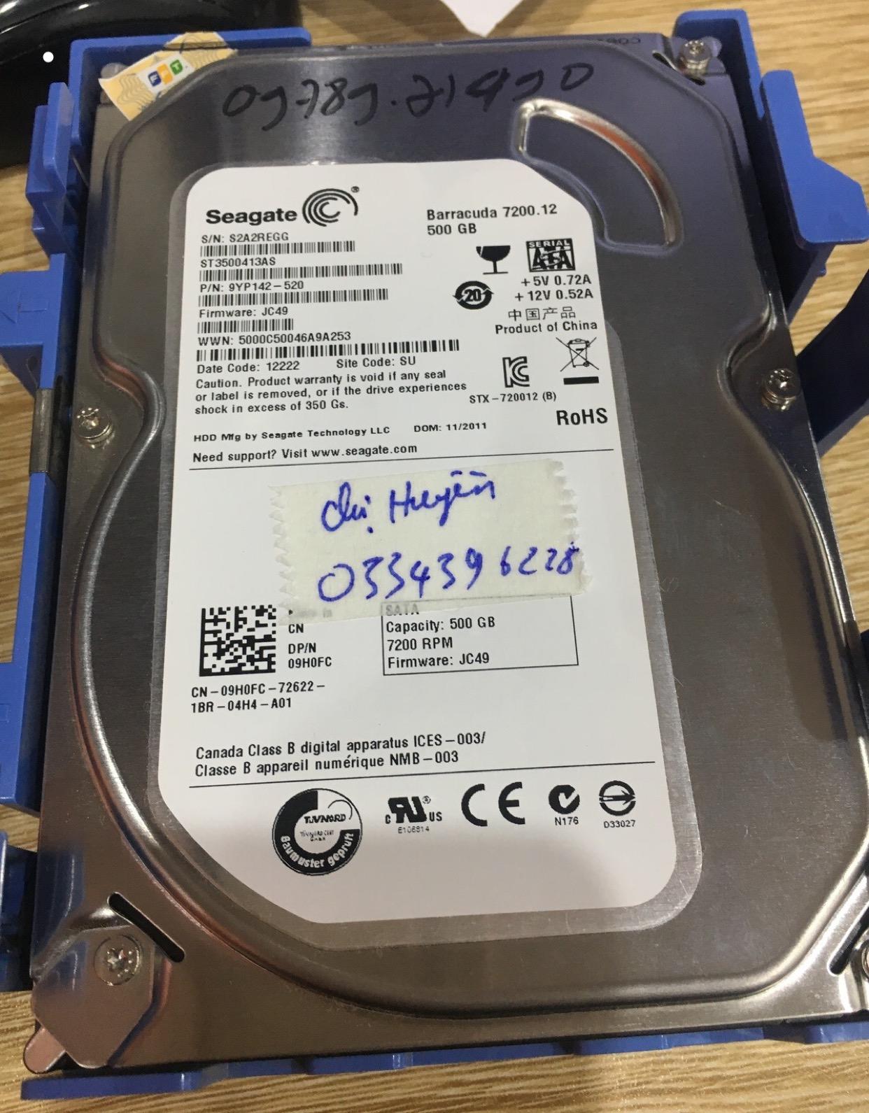 Lấy dữ liệu ổ cứng Seagate 500GB mất phân vùng 27/04/2020 - cuumaytinh