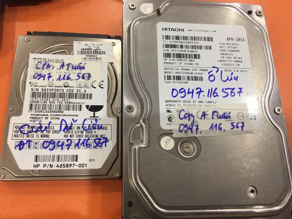 Phục hồi dữ liệu ổ cứng Toshiba 320GB không quay 23/04/2020 - cuumaytinh