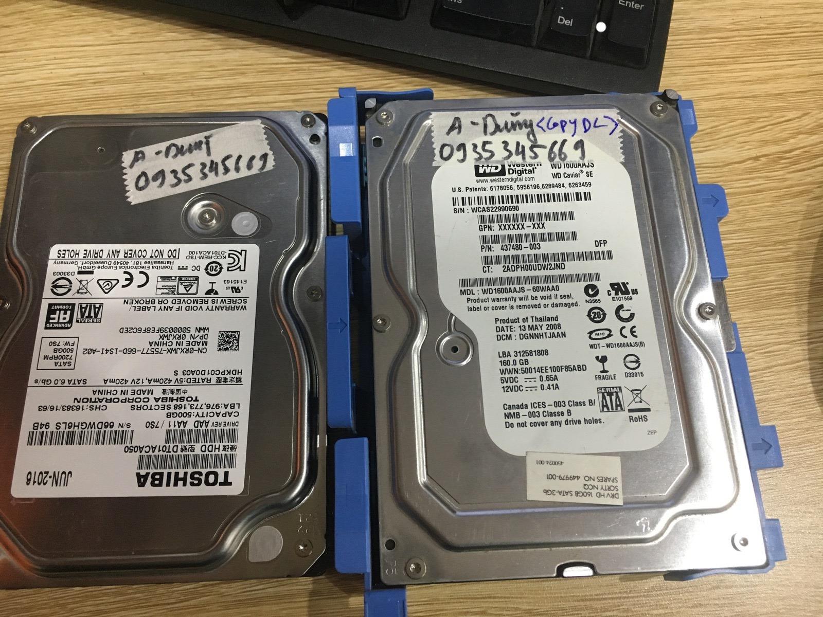 Phục hồi dữ liệu ổ cứng Toshiba 500GB đầu đọc kém 24/04/2020 - cuumaytinh