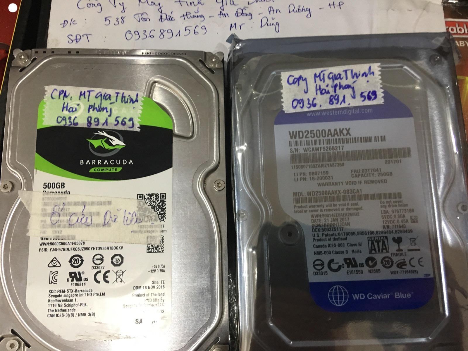 Cứu dữ liệu ổ cứng Seagate 500GB bad tại Hải Phòng 15/05/2020 - cuumaytinh