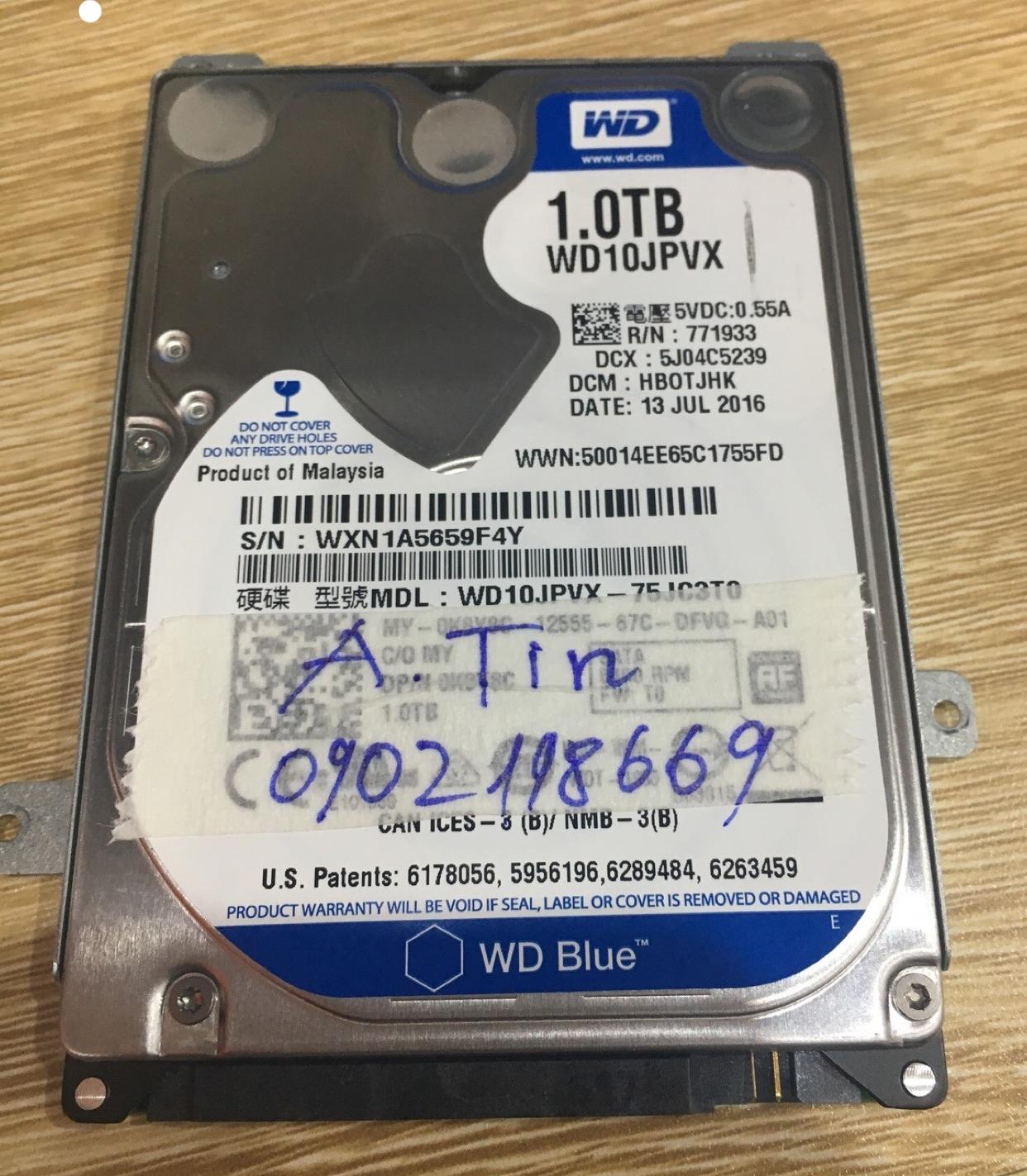 Khôi phục dữ liệu ổ cứng Western 1TB mất định dạng 29/04/2020 - cuumaytinh